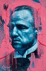 The Godfather by Zinsky - Original Painting on Stretched Canvas sized 23x35 inches. Available from Whitewall Galleries