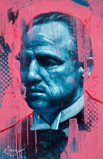 The Godfather by Zinsky - Original Painting on Stretched Canvas